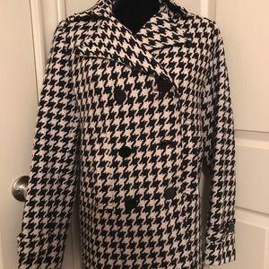 New York & Company Houndstooth Dress Coat